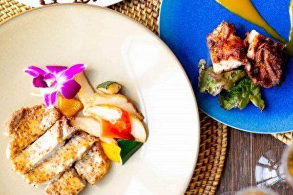 【フルコースディナー】アヒポキやモチコチキンなどハワイアンメニュー全5皿の画像